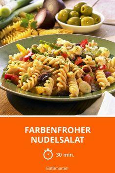 Farbenfroher Nudelsalat - smarter - Zeit: 30 Min. | eatsmarter.de