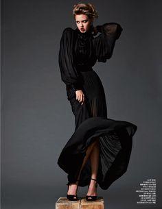 lady black: lindsey wixson by michael schwartz for harper's bazaar korea november 2012 | visual optimism; fashion editorials, shows, campaigns & more!