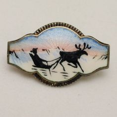 Norway Picture Pin Vintage Sterling Silver Enamel Gullringen   eBay