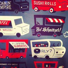 Food Trucks! Sushi Rolls, Food Trucks, Toronto, Illustrations, Illustration, Food Carts, Illustrators