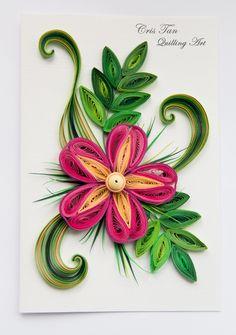 quilling flower. card