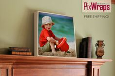 """Turn those artsy Instagram shots into a gorgeous 20"""" x 20"""" wrapped canvas."""