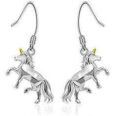 5a1a2a893 JXJL Silver Unicorn Earrings Valentine Gift Jewelry 925 Sterling Silver  Hypoallergenic Unicorn Dangle Drop Earrings for Girls Women (Unicorn  Earrings) ...