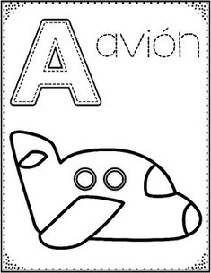 Spanish alphabet coloring pages (upper lowercase