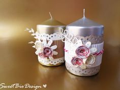 IDEA REGALO: Candele Decorate - Gift Idea: Decorated Candles