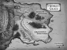The World of Solace Map from Mark of the Dragonfly