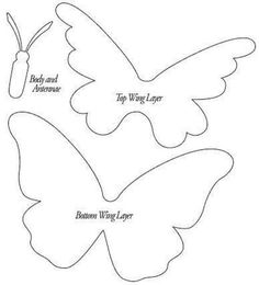 DIY Beautiful Butterfly Decoration from Templates A wonderfully versatile three part butterfly template. To go with the butterfly wall decor diy. A wonderfully versatile three part butterfly template. Or u could use this for a quilt pattern Interesting id Paper Butterflies, Beautiful Butterflies, Paper Flowers, Beautiful Flowers, Beautiful Pictures, Butterfly Template, Butterfly Crafts, Butterfly Felt, Felt Butterfly Pattern