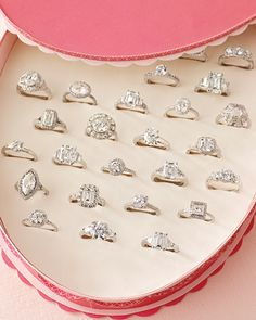 Imagine being proposed to with this and then being told to pick one... I can't even make up my mind!