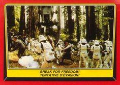 Return of the Jedi #108 trading card   star wars