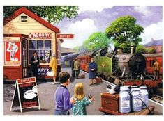 Station BuffetStation Buffet - Station BuffetStation Buffet - Station Buffet by Kevin Walsh Railway Posters, Travel Posters, Country Art, Country Life, Nostalgia Art, Train Art, Puzzle Art, Train Pictures, Art For Art Sake