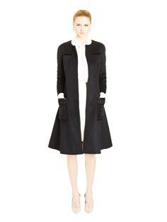 Oscar De La Renta Ribbon & Bead Embroidered Cashgora Coat worn by Olivia Pope on Scandal. Scandal Fashion, Blazers, Olivia Pope, Ready To Wear, Ribbon, Dressing, Dresses For Work, Beads, How To Wear