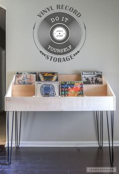 How to build a DIY vinyl record storage cabinet display