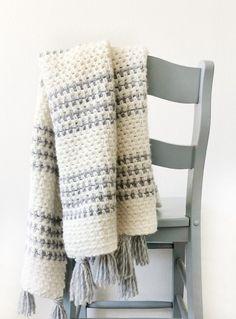 Crochet Striped Moss Stitch Throw   Daisy Farm Crafts