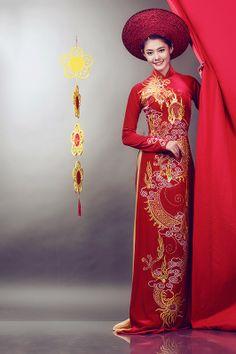 Áo Dài Cưới Truyền Thống | Vietnamese  wedding dress | www.marry.vn
