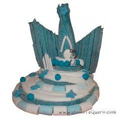 Tarta de chuches Castillo de Frozen