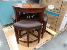 [ Have Regular Counter Height Table You Can Switch Dining Costco And Chairs ] - Best Free Home Design Idea & Inspiration Patio Bar Set, Pub Table Sets, Dining Set, Costco Furniture, Counter Height Table, Family Room Design, Center Table, Entertainment Room, Table Games