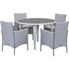 5-Piece Figueroa Patio Dining Set in Grey