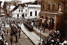Budynek głównej warty garnizonowej, Bydgoszcz ulica Focha 22 - Ostatnia odprawa warty 3 batalionu Grenschutzu 8 września 1919 r. przed wkroczeniem do Bydgoszczy wojsk polskich. Odbyło się to w budynku głównej warty garnizonowej.