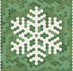EPP Hexie Snowflake 1 / Here's a little something for the English Paper Piecing lover! Use a mix of leftover scraps for the background and turn a simple enough design into a charming wall hanging!