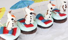 Olaf Cupcake Toppers Olaf cupcakes make these Olaf Cupcakes, Frozen Cupcakes, Frozen Cake, Film Frozen, Cupcake Party, Party Cakes, Cupcake Cakes, Cupcake Toppers, Frozen Party Food