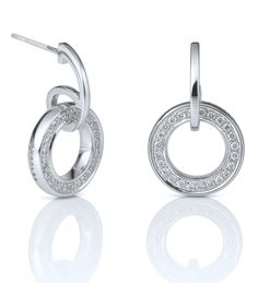 Boodles Classic Roulette White Gold Diamond Earrings
