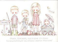 by Celine Bonnaud Cute Pictures To Draw, Cute Images, Celine, Fantasy Illustration, Cute Illustration, Art Illustrations, Painting For Kids, Art For Kids, Illustration Mignonne