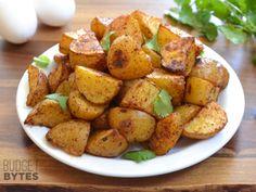 Chili Roasted Potatoes - wheat-free, corn-free, dairy-free, Vegan.