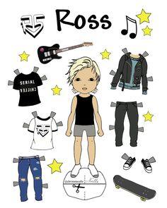 Free Printable, Custom Ross Lynch paper-doll, Ross R5, R5 Band, Ross Lynch, Free R5 band. Paper-dolls by Christen Noelle