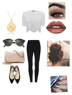 """""""Untitled #1440"""" by glamor234 on Polyvore featuring Alexander McQueen, Jimmy Choo, LC Lauren Conrad, Ray-Ban, BROOKE GREGSON and Lime Crime"""