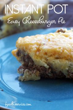 The impossibly easy cheeseburger pie is a super classic recipe, but I gave it an upgrade by making an instant pot easy cheeseburger pie! It's so easy to make and enjoy in under 30 minutes! via @foodnservice