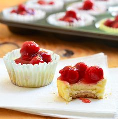 Mini Cherry CheesecakesMini Cherry Cheesecakes...easy to make with vanilla wafer base