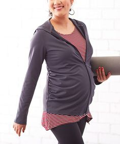 Look at this #zulilyfind! Embrace Your Bump Charcoal Zip-Up Maternity Hoodie by Embrace Your Bump #zulilyfinds