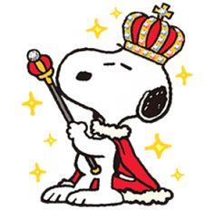 スヌーピー 王様の画像 プリ画像