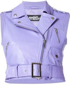 Jeremy Scott leather biker vest - $327.50