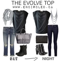 our evolve top easily goes from day to night