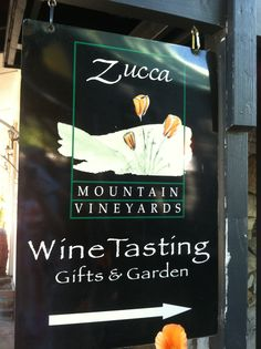 Zucca Mountain Winery Tasting Room Murphy's CA