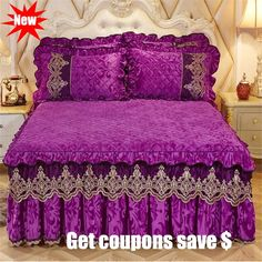Material: Fleece Fabric Pattern: Plain Dyed Use: Hotel Use: Home Pattern Type: Solid Fabric Count: 40 Thread Count: Model Number: Weight: About KG Use: wedding Lace Bedding, Bedding Sets, Mattress Covers, Bed Covers, Cama Queen, Bedding Basics, Design Your Home, King Queen, Queen Size
