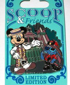 Le Disney Pin Mickey Mouse Scoop Sanderson Stitch Fireman Firefighter Smokey | eBay