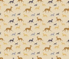 Italian Greyhound beige fabric by lobitos on Spoonflower - custom fabric