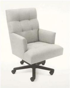 Donghia Classic Modern Design Office Chair With Fabric Upholstery And Swivel