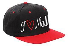 One Direction Girls Signature Signed Flat Peak Snapback Baseball Cap