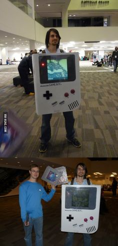 This guy's costume was entirely playable and you could switch the games in the back