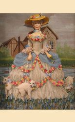 Finished Gallery - Labors of Love Needlepoint Marie Antoinette