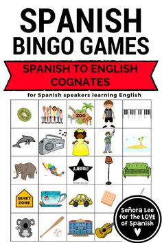 20 greeting games for efl esl english as a second language class esl bingo build fluency with this listening comprehension game to help students identify 36 spanish to english cognates esl ell eslbingo eslvocabulary m4hsunfo