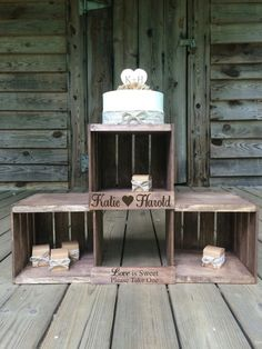 Rustic Wedding Cupcake Stand  Rustic Wedding by TheRusticOwlShop