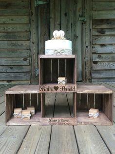 Rustic Wedding Cupcake Stand  Rustic Wedding by TheRusticOwlShop
