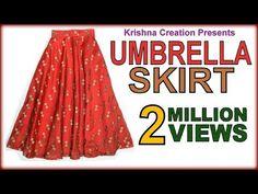 Umbrella Skirt ,अम्ब्रेला स्कर्ट , Drafting, Cutting & Stitching in Hindi By Krishna Creation Long Umbrella, Umbrella Skirt, Circle Skirt Tutorial, T Shirt Tutorial, Tutorial Class, Lehenga, Pola Rok, Kids Umbrellas, Divided Skirt