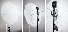 Off camera lighting set up for receptions
