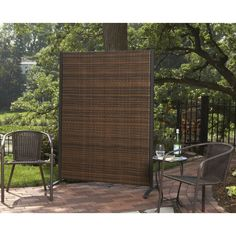 Versare Outdoor Wicker Resin Room Divider Privacy Screens At Hayneedle