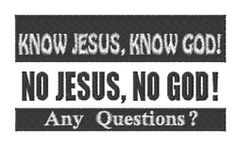 Windmill Designs Embroidery Design: Know Jesus Questions 1.94 inches H x 3.51 inches W